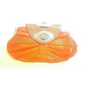 Handbags - Orange Clutch Purse